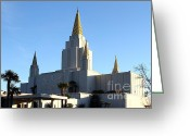 Harold Burton Greeting Cards - Oakland California Temple . The Church of Jesus Christ of Latter-Day Saints . 7D11375 Greeting Card by Wingsdomain Art and Photography
