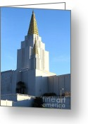 Oakland California Greeting Cards - Oakland California Temple . The Church of Jesus Christ of Latter-Day Saints . 7D11377 Greeting Card by Wingsdomain Art and Photography