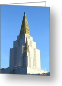 Churches Photo Greeting Cards - Oakland California Temple . The Church of Jesus Christ of Latter-Day Saints . 7D11381 Greeting Card by Wingsdomain Art and Photography