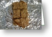 Oatmeal Greeting Cards - Oat Bars Greeting Card by Jamey Balester