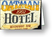 Oatman Greeting Cards - Oatman Hotel 1902 Greeting Card by David Lee Thompson