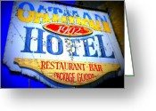 Oatman Greeting Cards - Oatman Hotel Greeting Card by Randall Weidner