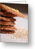 Oatmeal Greeting Cards - Oatmeal Cookies Greeting Card by HD Connelly