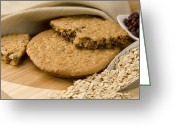 Oatmeal Greeting Cards - Oatmeal Raisin Cookie Greeting Card by Rob Outwater