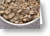 Oatmeal Greeting Cards - Oatmeal Greeting Card by Steve Gadomski