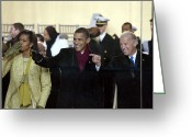 First African American First Lady Greeting Cards - Obama Inaguration, 2009 Greeting Card by Granger