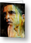 President Obama Greeting Cards - Obama Greeting Card by Paul Lovering