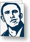 Barrack Obama Greeting Cards - Obama Greeting Card by Pramod Masurkar