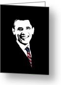 Barrack Obama Greeting Cards - Obama Greeting Card by War Is Hell Store