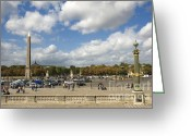 Ile De France Greeting Cards - Obelisque place de la Concorde. Paris. France Greeting Card by Bernard Jaubert