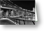 The City Greeting Cards - Obligatory BW Greeting Card by JC Findley