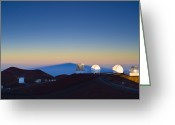 Observatories Greeting Cards - Observatories On Mauna Kea Greeting Card by David Nunuk