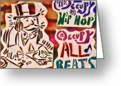 99 Percent Greeting Cards - Occupy All Beats Greeting Card by Tony B Conscious