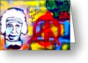 Sit-ins Painting Greeting Cards - Occupy Einstein Greeting Card by Tony B Conscious