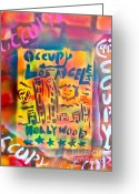 99 Percent Greeting Cards - Occupy Hollywood Greeting Card by Tony B Conscious