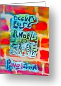 Sit-ins Greeting Cards - Occupy Los Angeles Greeting Card by Tony B Conscious