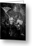 Occupy Photo Greeting Cards - Occupy Portland Greeting Card by Pensive Northwestern