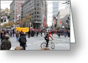 Occupy Oakland Greeting Cards - Occupy Sf . 7D9733 Greeting Card by Wingsdomain Art and Photography