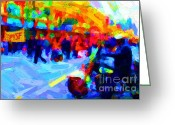 Occupy Oakland Greeting Cards - Occupy SF In Abstract Greeting Card by Wingsdomain Art and Photography