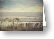 Vintage Photographs Greeting Cards - Ocean Breeze Greeting Card by Kathy Jennings