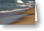 Waves Pyrography Greeting Cards - Ocean City Beach Greeting Card by Valia Bradshaw