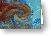 Linda-sannuti Art Greeting Cards - Ocean colors Greeting Card by Linda Sannuti