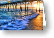 Water Scenes Greeting Cards - Ocean Flow Greeting Card by Emily Stauring
