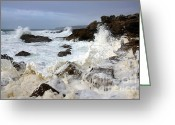 Background Greeting Cards - Ocean Foam Greeting Card by Carlos Caetano
