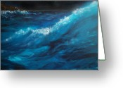Crashing Waves Greeting Cards - Ocean II Greeting Card by Patricia Motley
