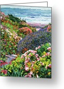 Beach Scenes Greeting Cards - Ocean Impressions Greeting Card by David Lloyd Glover