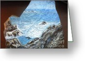 Ocean Sculpture Greeting Cards - Ocean Greeting Card by Monika Dickson