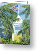 Golf Club Greeting Cards - Ocean Reef Club Greeting Card by Danielle Perry