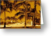 South Beach Greeting Cards - Ocean Walk Miami South Beach Greeting Card by Monique Wegmueller