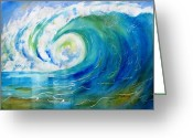 Carlin Greeting Cards - Ocean Wave Greeting Card by Carlin Blahnik