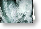 Art On Foam Greeting Cards - Ocean Waves - Ocean Waves - Ocean Waves.... Greeting Card by Urft Valley Art