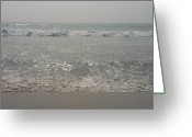 Ocean Greeting Cards - Ocean Waves Greeting Card by Vivek Raj