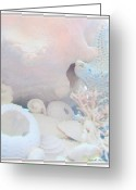 Beach Decor Digital Art Greeting Cards - Ocean Wisper in Cotton Candy Color Greeting Card by Danielle  Parent
