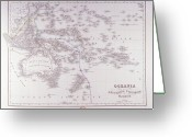 Australia Map Greeting Cards - Oceania (australia, Polynesia, And Malaysia) Greeting Card by Fototeca Storica Nazionale