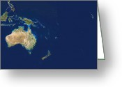 Oceania Greeting Cards - Oceania Greeting Card by Planetobserver