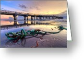 Florida Bridge Greeting Cards - Oceans Gift Greeting Card by Debra and Dave Vanderlaan