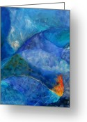 Ocean Greeting Cards - Oceans lullaby Greeting Card by Aliza Souleyeva-Alexander