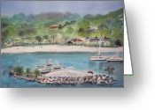 Caribbean Homes Greeting Cards - Ocho Rios Jamaica Greeting Card by Carole Robins