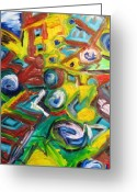 Vibe Painting Greeting Cards - Octagon 1 Greeting Card by Alfredo Dane Llana