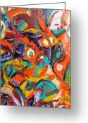 Vibe Painting Greeting Cards - Octagon 2 Greeting Card by Alfredo Dane Llana