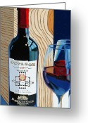 Wine Bottle Greeting Cards - Octagon From The Box Greeting Card by Christopher Mize
