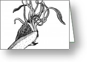Addison Greeting Cards - Octifish Greeting Card by Karl Addison