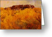 Abstract Landscapes Greeting Cards - October  Greeting Card by Ann Powell