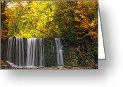 Autumn Photographs Greeting Cards - October at Hoggs Falls Greeting Card by Phill  Doherty