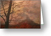 Fall Scene Greeting Cards - October at Holy Hill Greeting Card by Tom Shropshire
