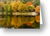 October Greeting Cards - October Peace Greeting Card by Harry H Hicklin
